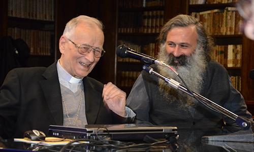 Conferenza con il Cardinal Piovanelli
